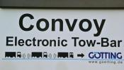 Convoy with electronic tow-bar