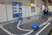 The track with the KATE vehicles