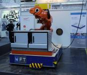Large AGV by WFT with Götting transponder positioning