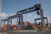 GPS navigation in a container harbour
