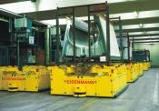 AGV with inductive track guidance