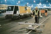 Carrying out measurements for inductive track guidance of a people mover (Eurotunnel)
