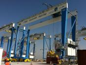 RMG (Rail Mounted Gantry) with transponder positioning for the Container Location Tracking, Konecranes, Langenhagen