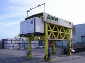 Automatically-driven stacker crane with GPS navigation, Betonwerk Lintel
