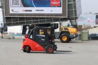 Video teleoperation of a forklift